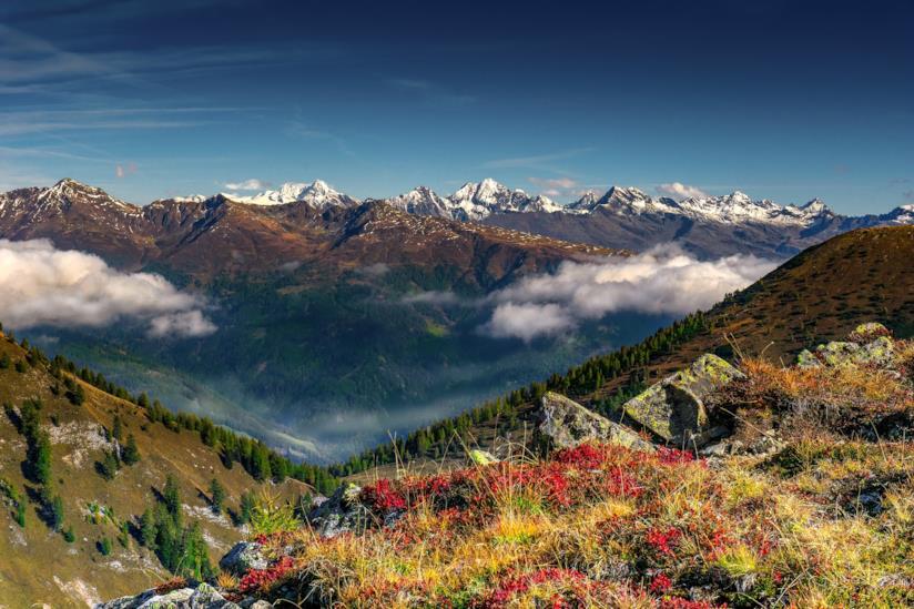 Vista mozzafiato sulle montagne del Tirolo austriaco