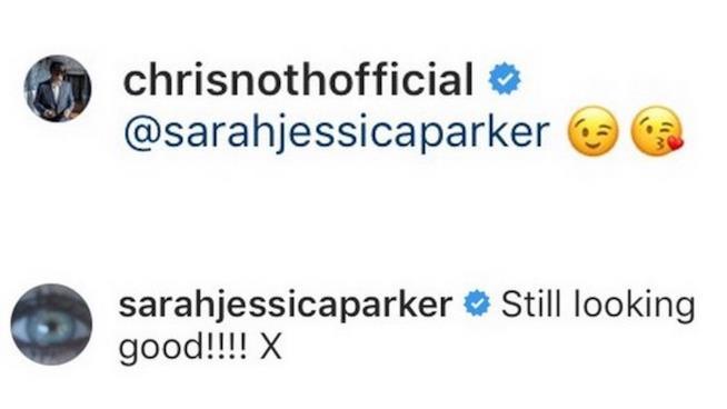 I commenti che Chris Noth e Sarah Jessica Parker si sono scambiati