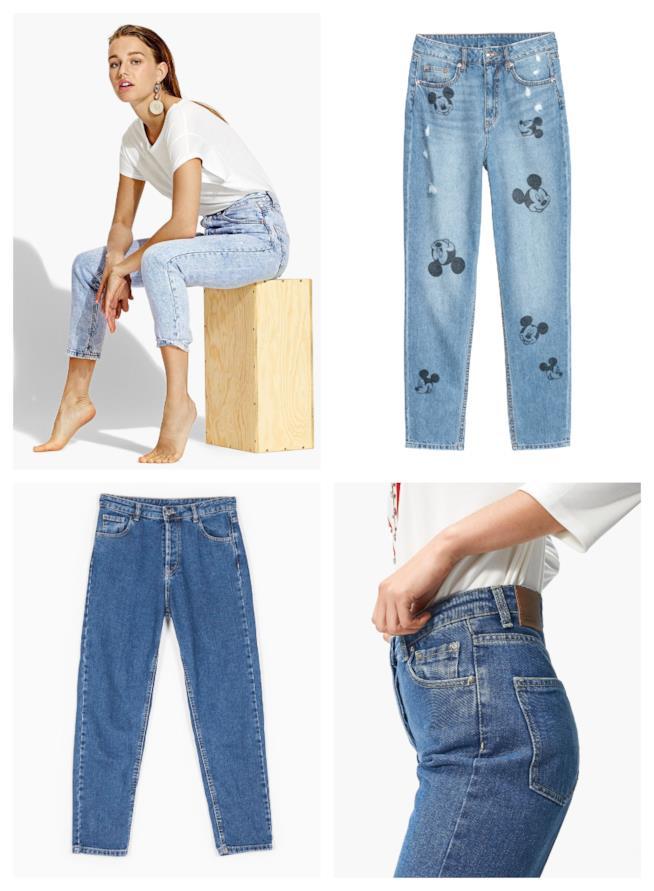 A vita alta e linea regolare, i mom jeans