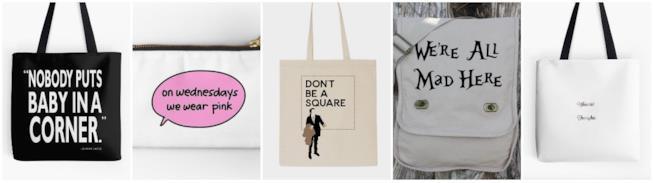 Collage borse con citazioni film