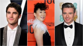 Sandra Oh con Darren Criss e Richard Madden