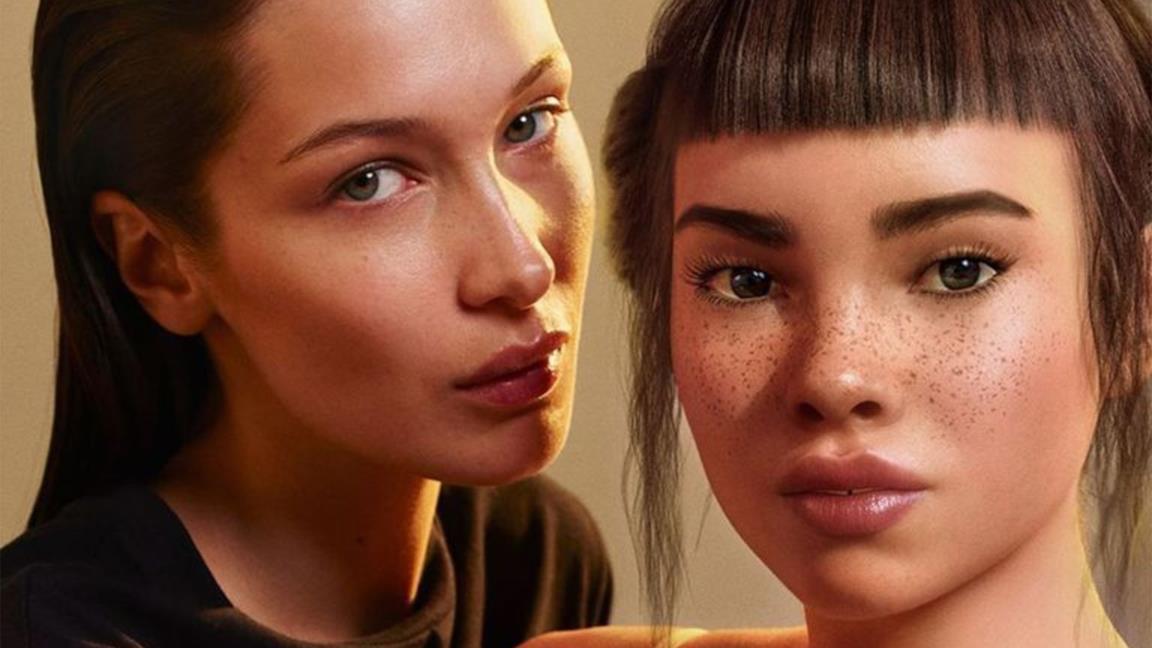 Bella Hadid e Lil Miquela in Calvin Klein