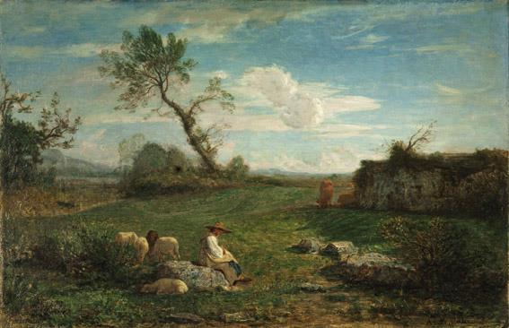 Antonio Fontanesi (1818 –1882) Il mattino, (1861) Olio su tela, cm 60,3 x 91,7 Genova, Raccolte Frugone