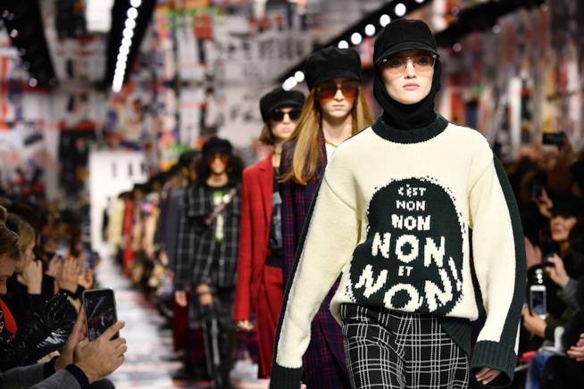 Modelle nella sfilata Dior 2018