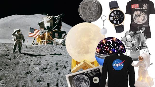 50° anniversario del Primo allunnaggio: gadget, accessori e regali a tema Luna