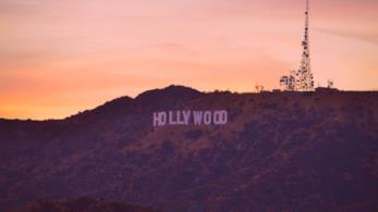 Vista della scritta di Hollywood