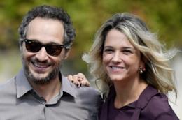 Claudio Santamaria e Francesca Barra in una foto insieme