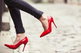 Scarpe rosse da donna