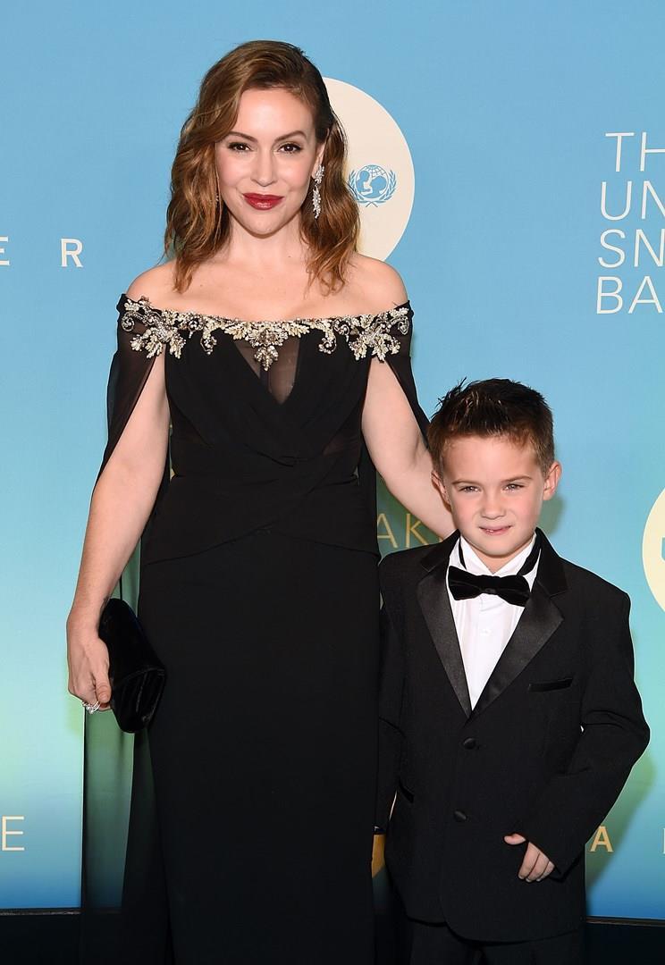 Alyssa Milano e il figlio Milo