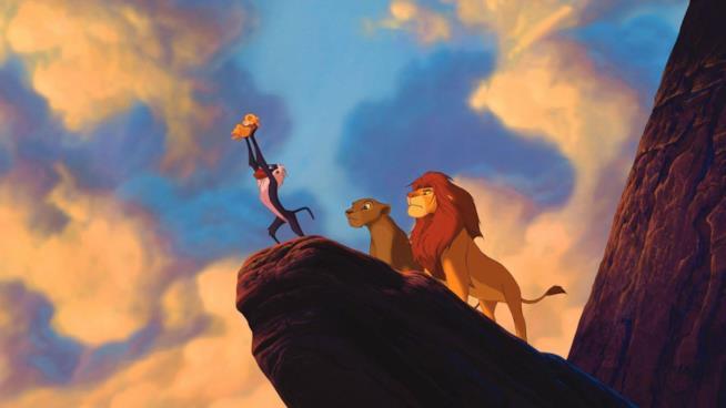 Simba e Nala sulla Rupe dei Re