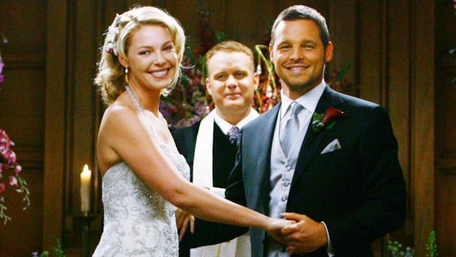 Una scena del matrimonio di Izzie e Alex