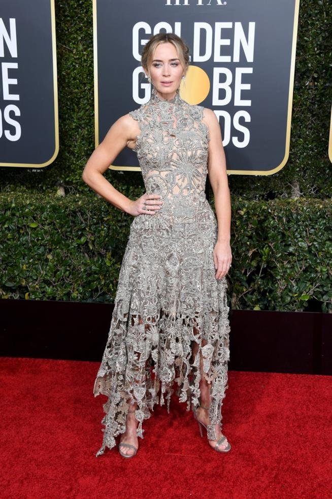 Emily Blunt ai Golden Globes 2019
