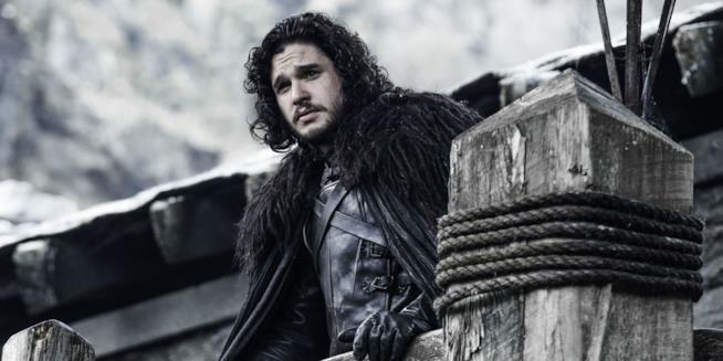 Jon Snow che fissa il vuoto