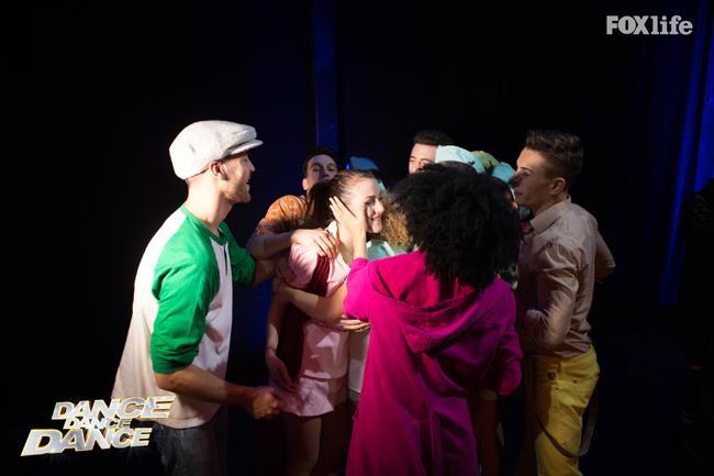 Il saluto di Federica al cast di ballerini