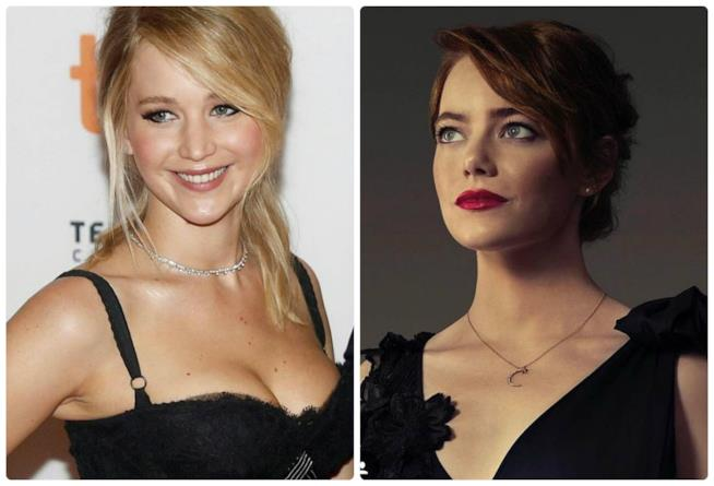 Jennifer Lawrence ed Emma Stone su Instagram