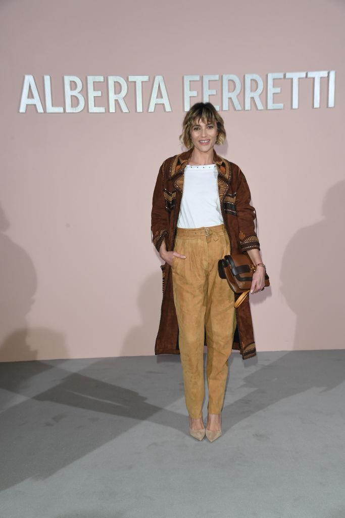 L'attrice Anna Foglietta alla sfilata di Alberta Ferretti