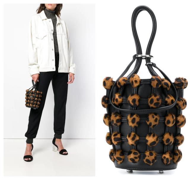 A secchiello con motivo leopardato, la borsa di tendenza per l'autunno 2018