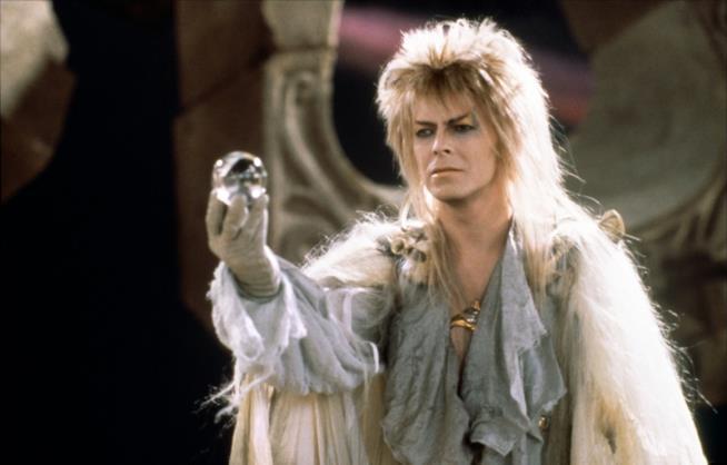 Una scena di Labyrinth con David Bowie