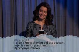 Mellie Grant legge i tweet cattivi su di lei