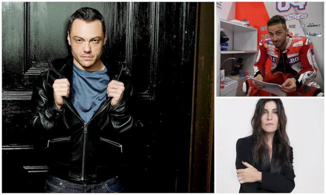 Tiziano Ferro, Paola Turci e Andrea Dovizioso