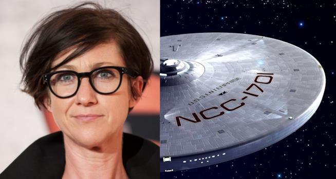 S. J. Clarkson e la USS Enterprise di Star Trek