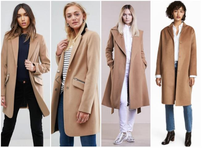 Modelli di cappotto cammello slacciato