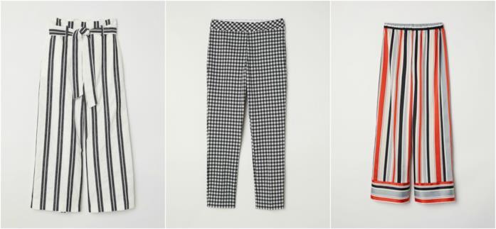 Pantaloni righe e quadretti moda Primavera Estate 2018