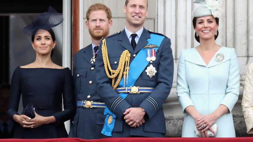 Meghan, Harry, William e Kate