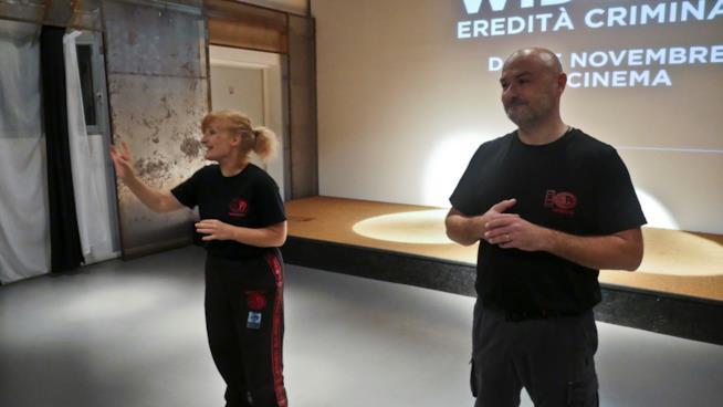 Donatella Vecchi e Daniele Stazi di Krav Maga Roma