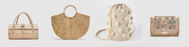Collage di borse Zara di paglia