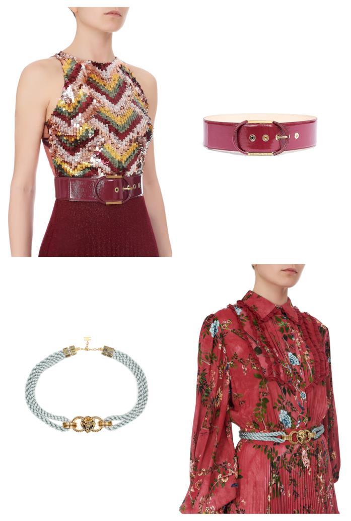 Cinture di Elisabetta Franchi moda autunno 2018