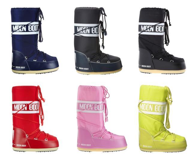 Diversi colori di Moon Boot per bambini