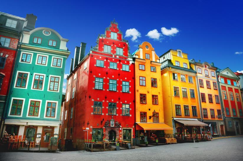 Colorati edifici del Gamla Stan