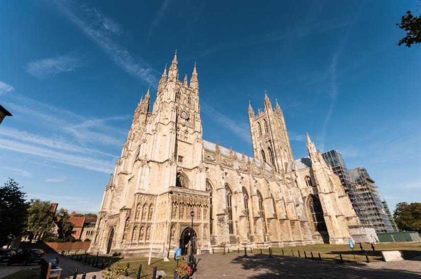La splendida Cattedrale di Canterbury