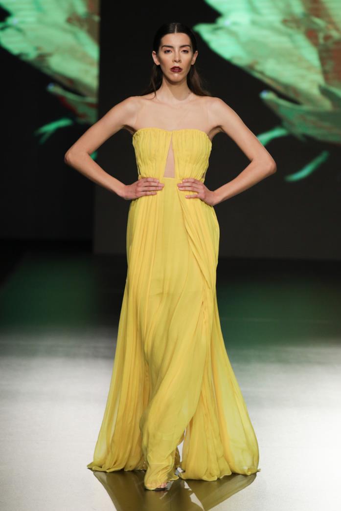 Maxi dress estivo giallo limone