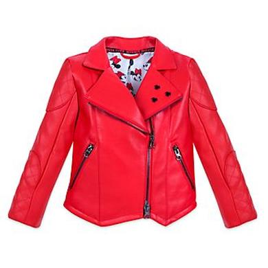Giacca in pelle rossa Minnie