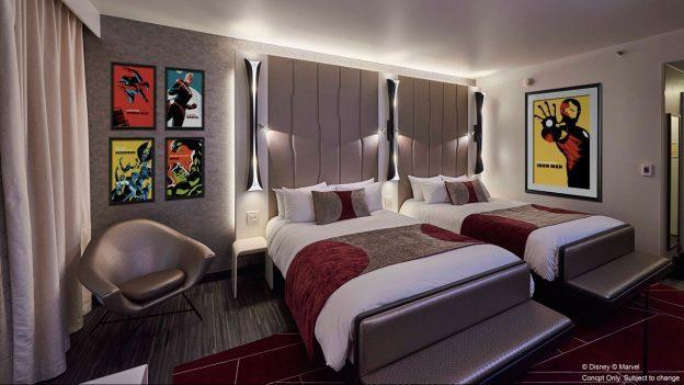 Una stanza del Disney's New York Hotel – The Art of Marvel