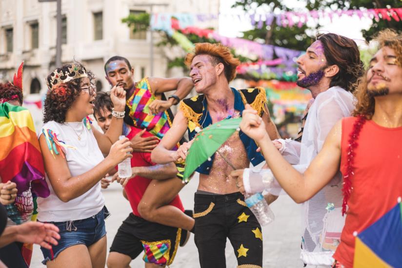 Manifestanti del Gay Pride