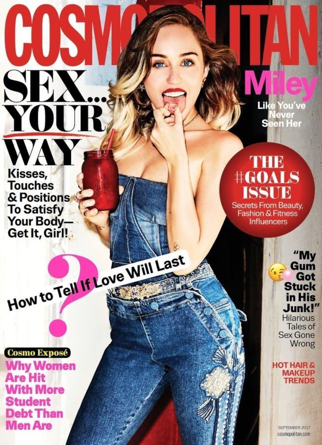 Miley Cyrus sulla copertina di Cosmopolitan