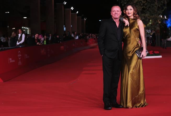 Gigi D'Alessio sul red carpet con Anna Tatangelo