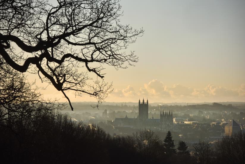 L'alba su Canterbury