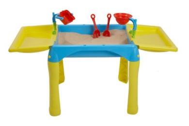 Tavolino pieghevole da gioco porta sabbia e acqua