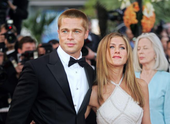 Brad Pitt e Jennifer Aniston a un evento
