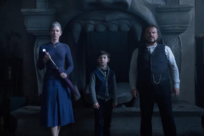Cate Blanchett, Owen Vaccaro e Jack Black in Il mistero della casa del tempo di Eli Roth
