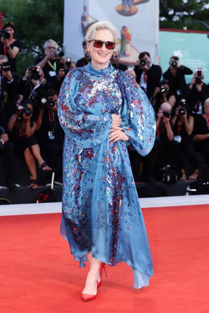Meryl Streep sul red carpet di Venezia 76