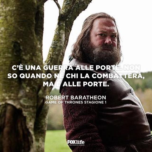 Robert Baratheon mentre si volta