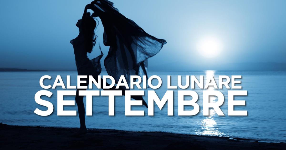 Pagina Di Calendario Settembre 2019.Calendario Lunare Di Settembre 2019 Segno Per Segno