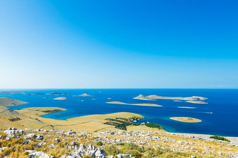 Spiaggia di Lojena, arcipelago delle Kornati