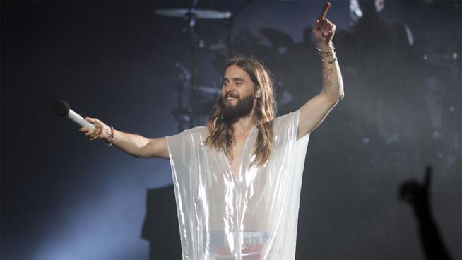 Jared Leto durante il Camp Mars festival