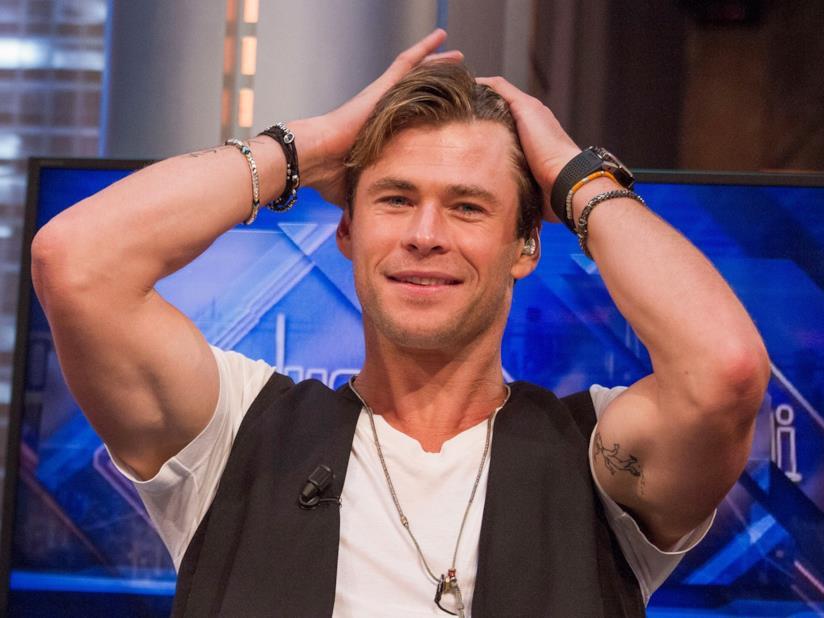 Chris Hemsworth in primo piano
